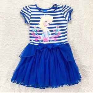 Blue and white Elsa Frozen summer dress